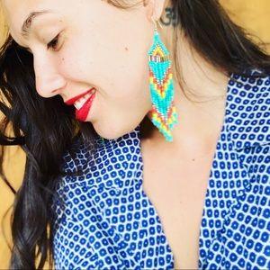Handmade Native Beaded Earrings